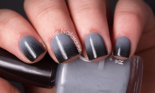 hot: Cool Pin, Beauty Gray, Gray Color Nails, Beauty Makeup Hairs Nails, Gray Nails, Gradient Nails Art, Art Check, Gray Gradient Nails, Greydient Thenailasaurus