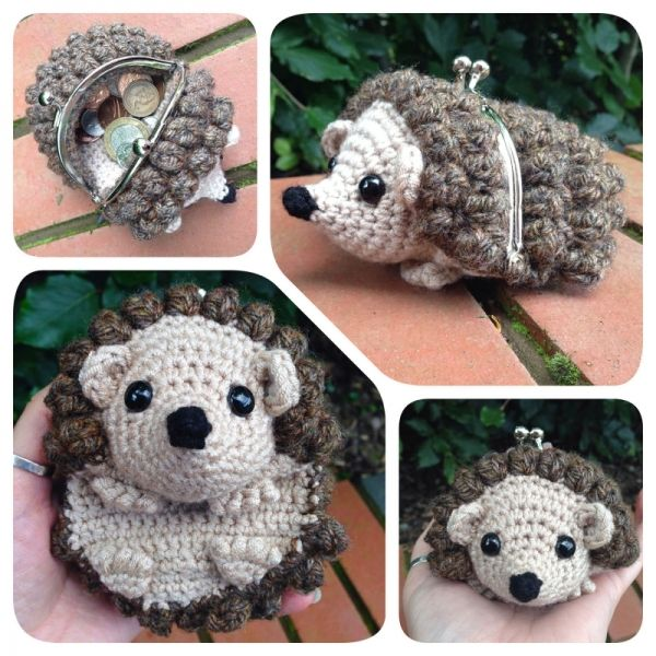 Hedgehog Coin Purse Crochet Pattern