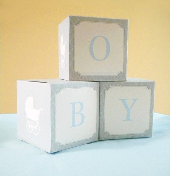 DIY PRINTABLE Baby Shower Paper Blocks Vintage by onesweetparty, $5.00