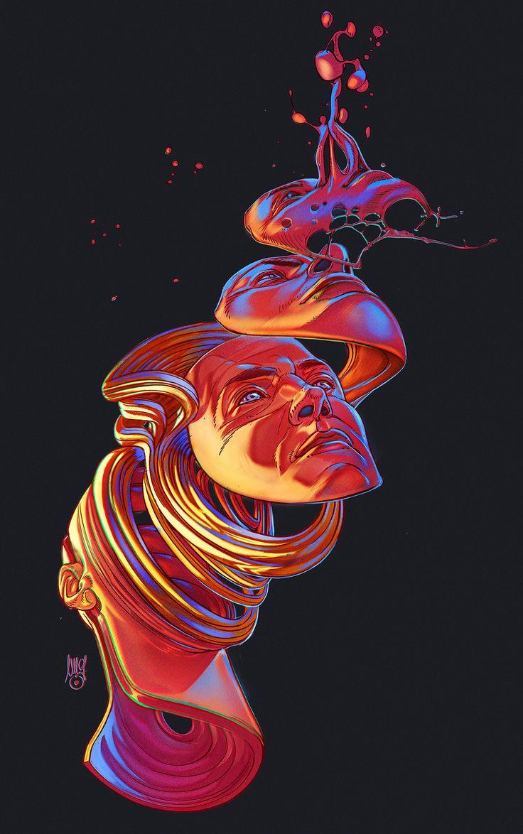 Liquid Mind Illustrations | Abduzeedo