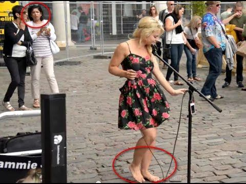 Barefoot Street Performer SHOCKS Audience with her voice - Sammie Jay - YouTube