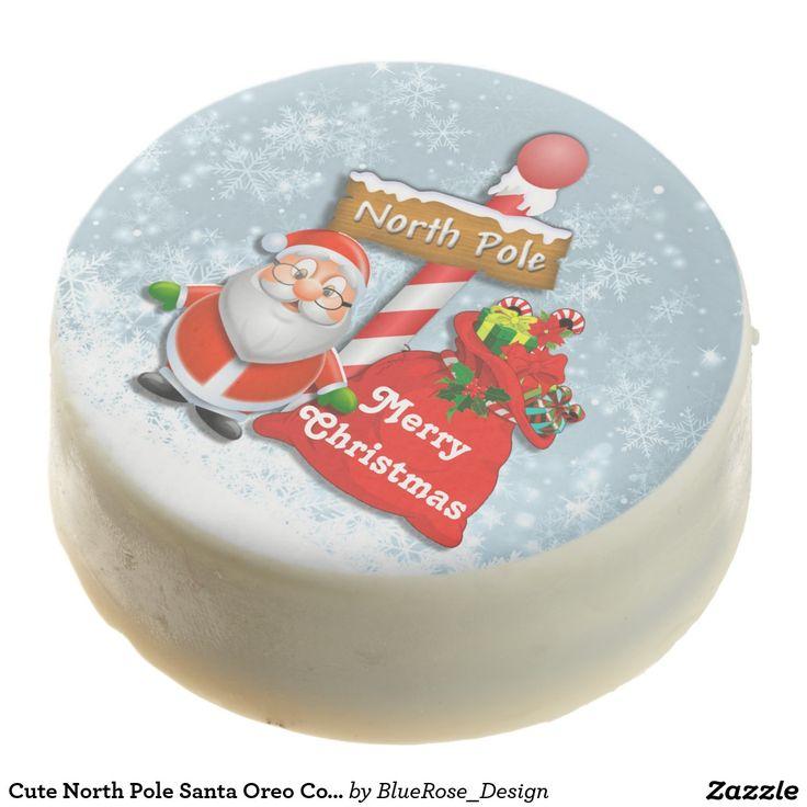 Cute North Pole Santa Oreo Cookies Chocolate Dipped Oreo