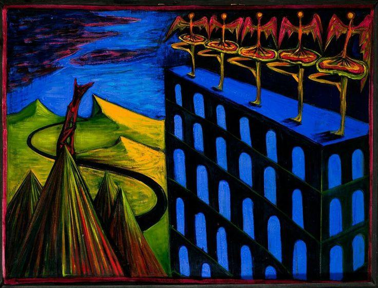 El Kazovsky , Hungarian female artist born in Russia, 1948-2008