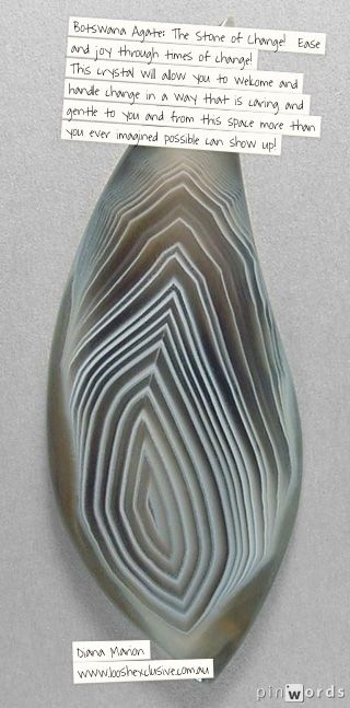 Botswana agate: the contribution of ease and joy through change and times of upheaval!