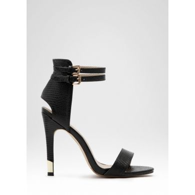 Sandałki Helen Black Lizard Sandals