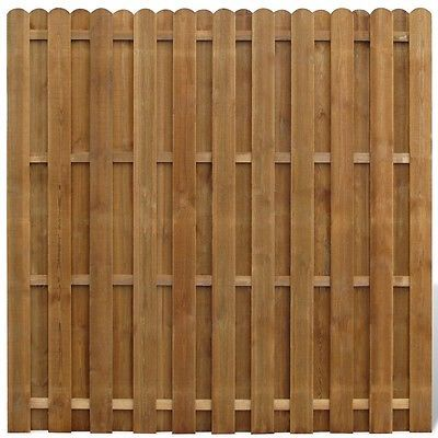 Wooden Fence Panels • Vertical Feather Edge Curved Fencing Panel ...