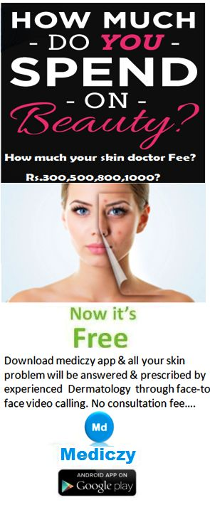 How much do you spend on Beauty or skin doctor consultation fee? Now it's Free!  Mediczy app