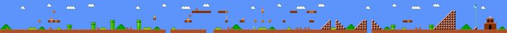 Images of all super mario brothers levels, for cakes