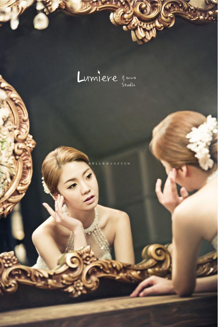 beautiful bride in photography pre wedding in Korea
