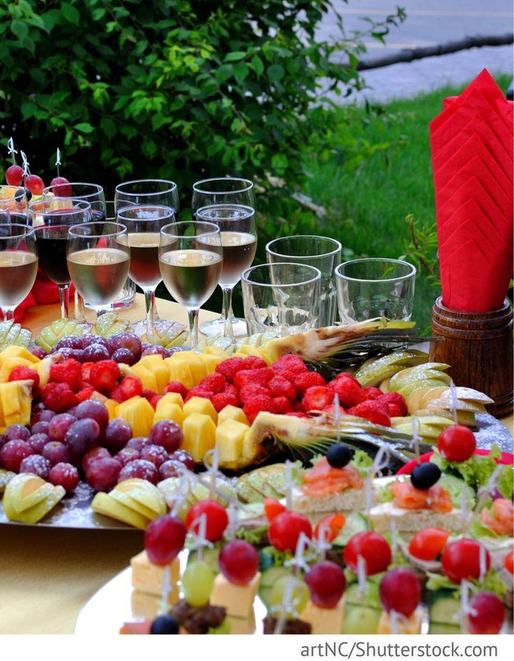Sektempfang Outdoor Hochzeit mit Fingerfood für H…