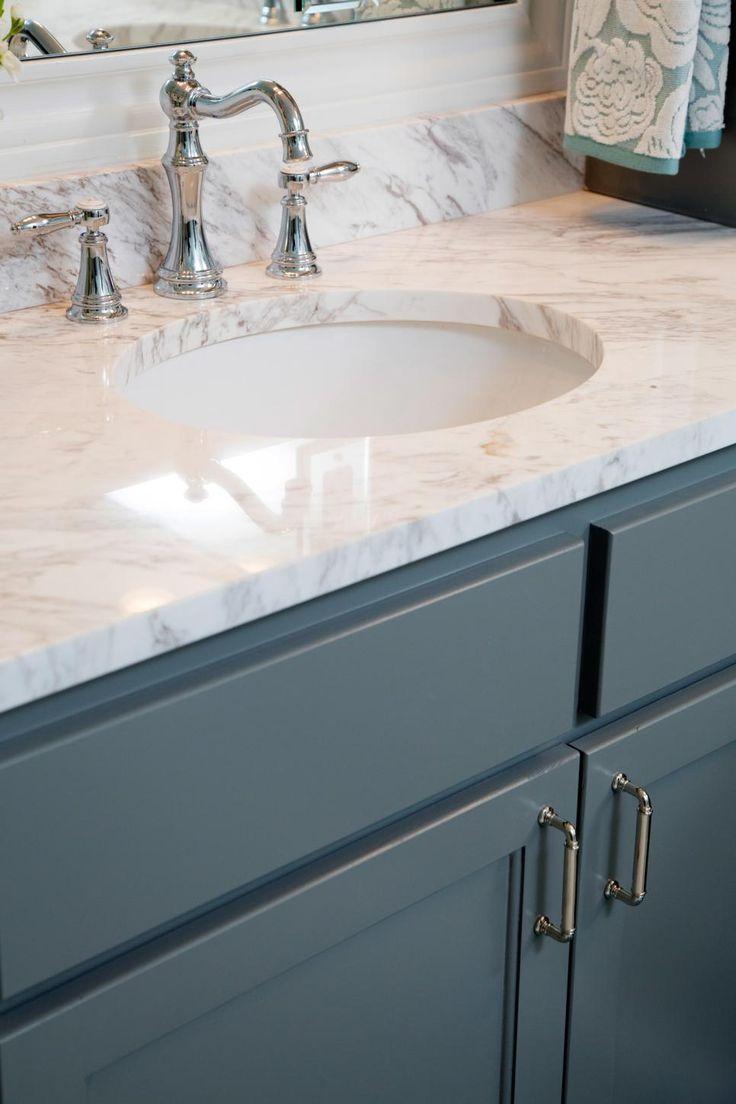 Blue Gray Bathroom Vanity