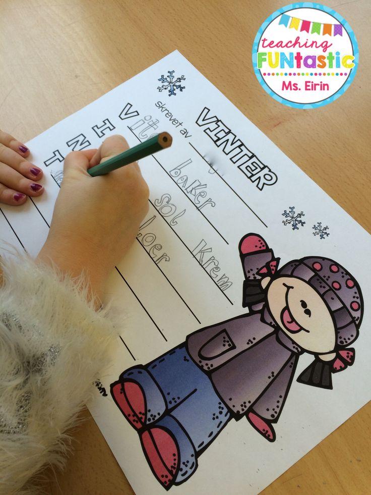 """PY 3 - Uke 2: Vi skriver """"acrostic poem"""" om vinteren :) Flotte dikt som snart skal pryde klasseromsveggene våre!"""