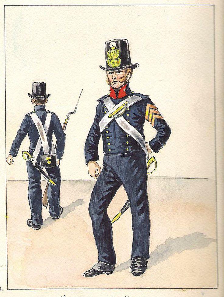 Equipage de ligne Grenadiers grande tenue (1824-1825 )