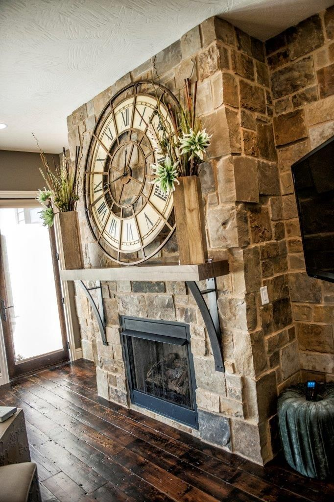 Mantle Perfection With Oversized Clock