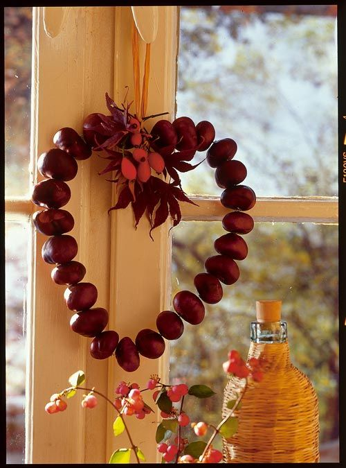 Conker heart wreath  Google Image Result for http://www.franceshunt.co.uk/news/wp-content/uploads/2012/09/heart-of-conkers.jpg