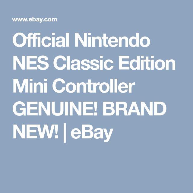 Official Nintendo NES Classic Edition Mini Controller GENUINE! BRAND NEW!  | eBay