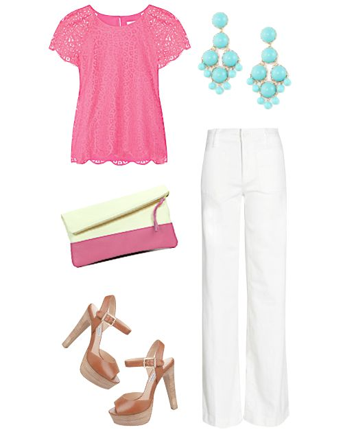 love this outfit!: Spring Color, Clothes Style, Clothes Summer, Cute Spring Outfits, Summer Outfits, Summer Work Outfits, Awesum Outfits, Pink Top