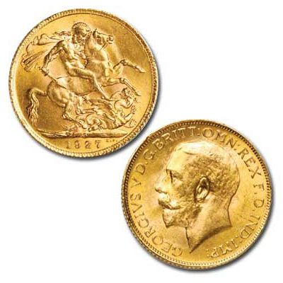 My gold coin necklace In my family, you get a British sovereign on your 18th birthday. Girls get one with a queen on it, and guys get a king. Mine is George V. I put it on a necklace and wear it almost all the time.