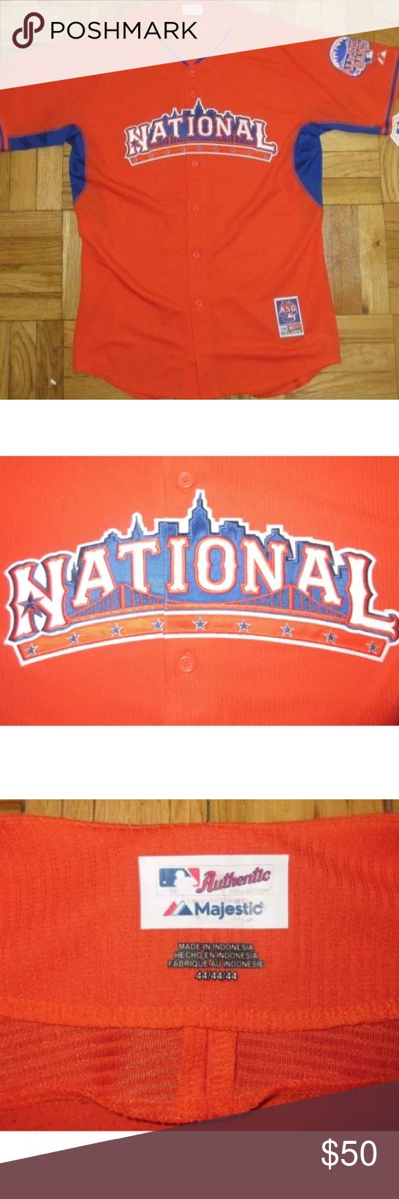 Majestic Official 2013 MLB All Star Game Jersey 2013 National League Jersey NWT Majestic Shirts
