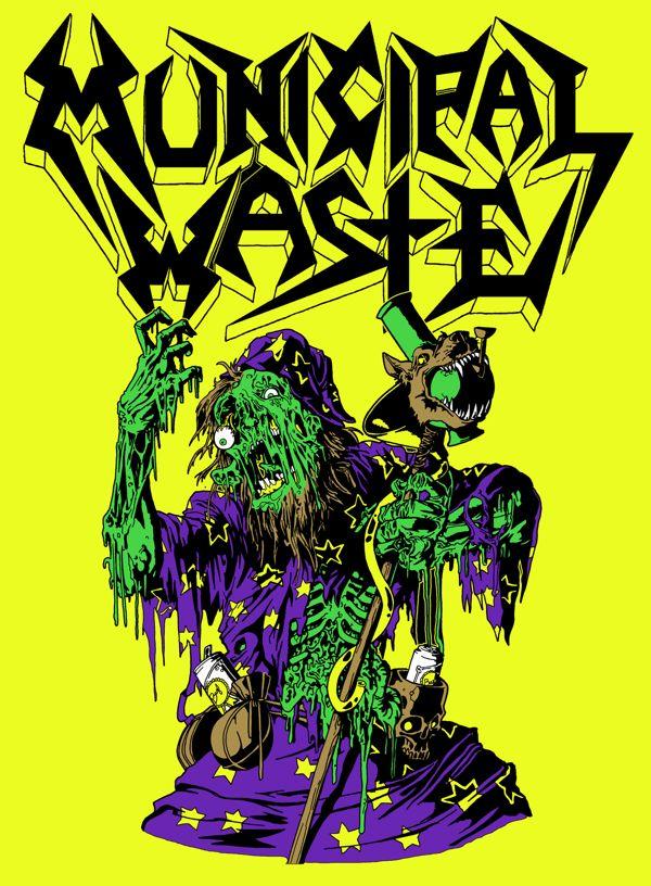 Municipal Waste designs on Behance | Heavy metal bands art ...