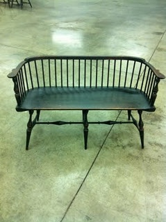Low Back Windsor Style Bench Just Bought One Almost Like It To Put In My Living Room Love It