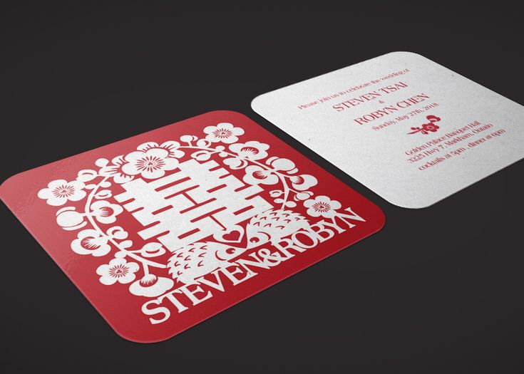 Chinese Paper Cutting Art inspired Invitation