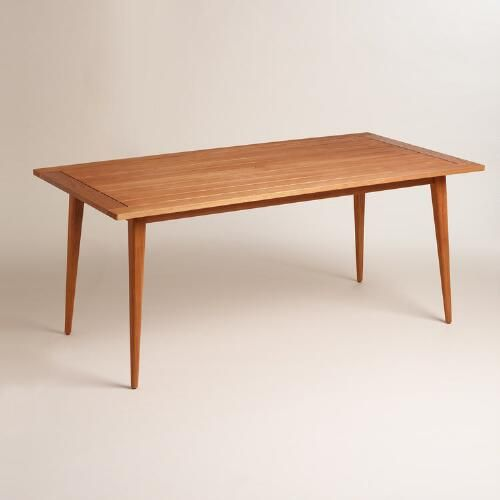 One of my favorite discoveries at WorldMarket.com: Wood Carmel Mid Century Style Dining Table