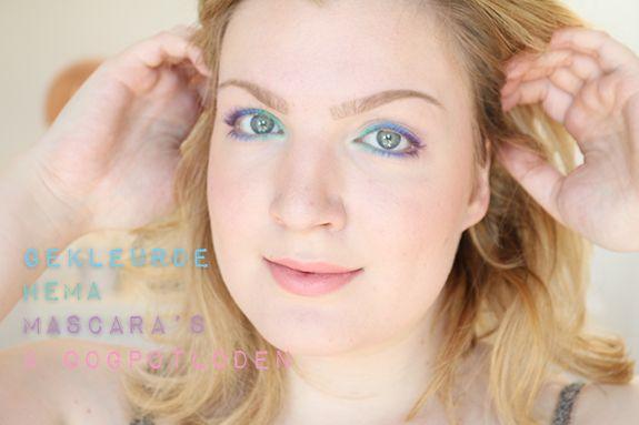 3 gekleurde Hema mascara's & oogpotloden