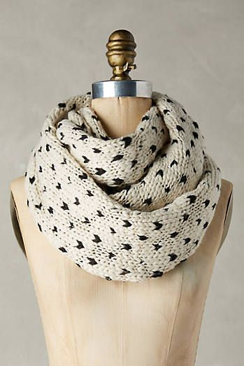 Dotted Knit Infinity Scarf