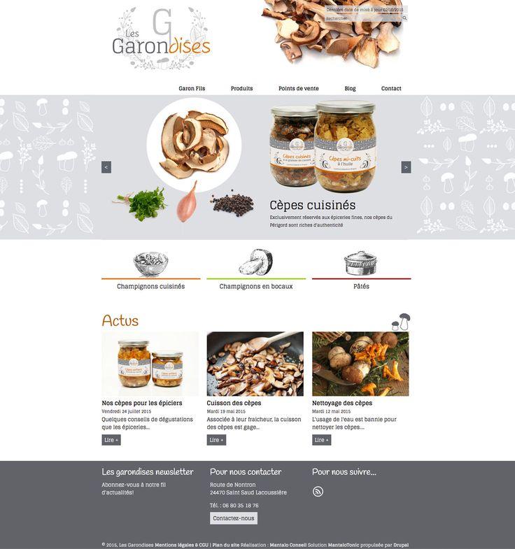 Site vitrine Les Garondises - www.les-garondises.fr - Vente de cèpes et girolles du Périgord - #site #web #champignons #design #cèpe #girolle #périgord
