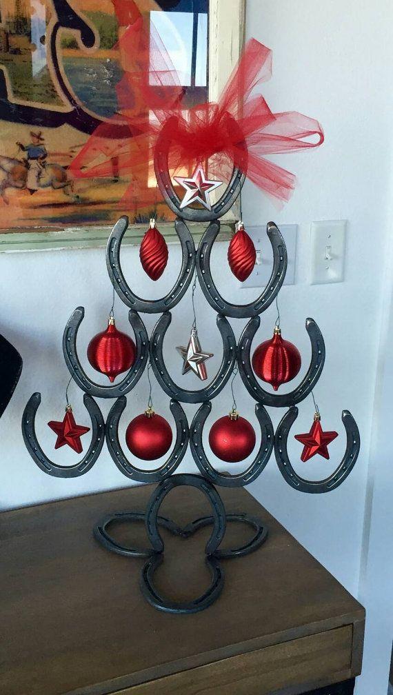 Cowboy Horseshoe Christmas Tree by ThreeBoneCross on Etsy