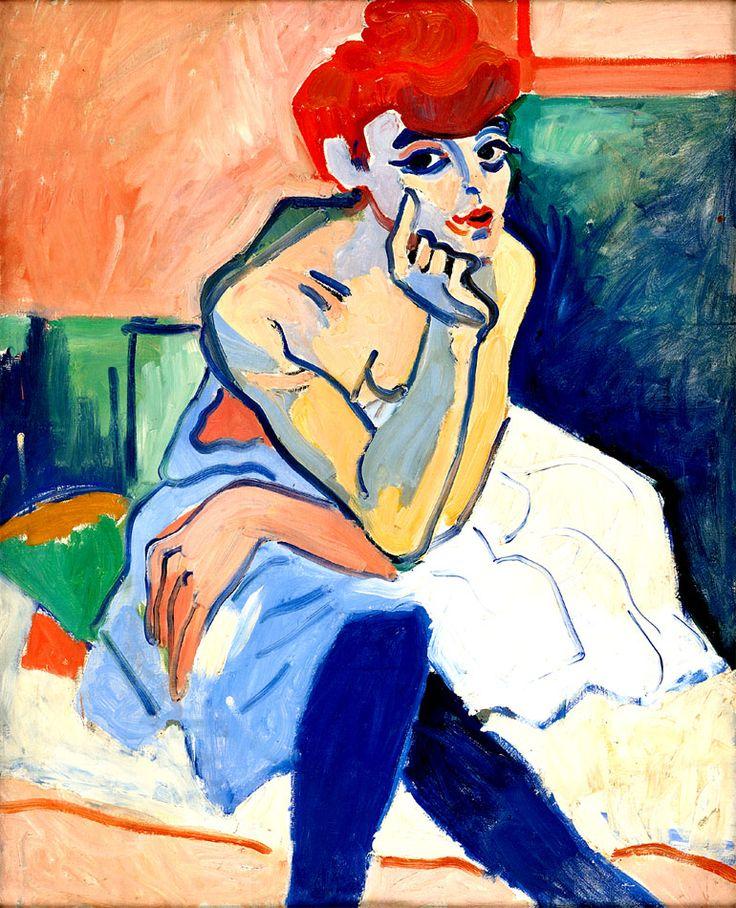 "Andre Derain Fauvism | Artinvest2000 . André Derain : ""Donna in camicia"" ""Woman in a Chemise ..."