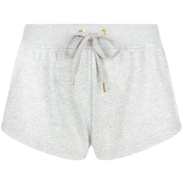 Adidas By Stella McCartney Team GB Running Shorts ($40) ❤ liked on Polyvore featuring activewear, activewear shorts, shorts, cotton jersey and adidas originals