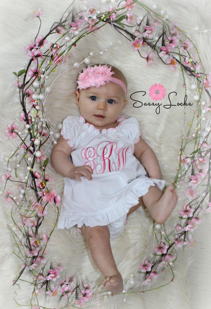 Monogram Baby Girl Dress Newborn up to 5 T