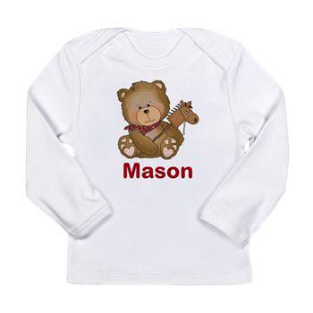 Mason's Cowboy Bear Long Sleeve Infant T-Shirt