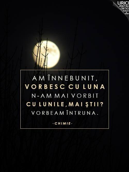 vorbesc cu luna...