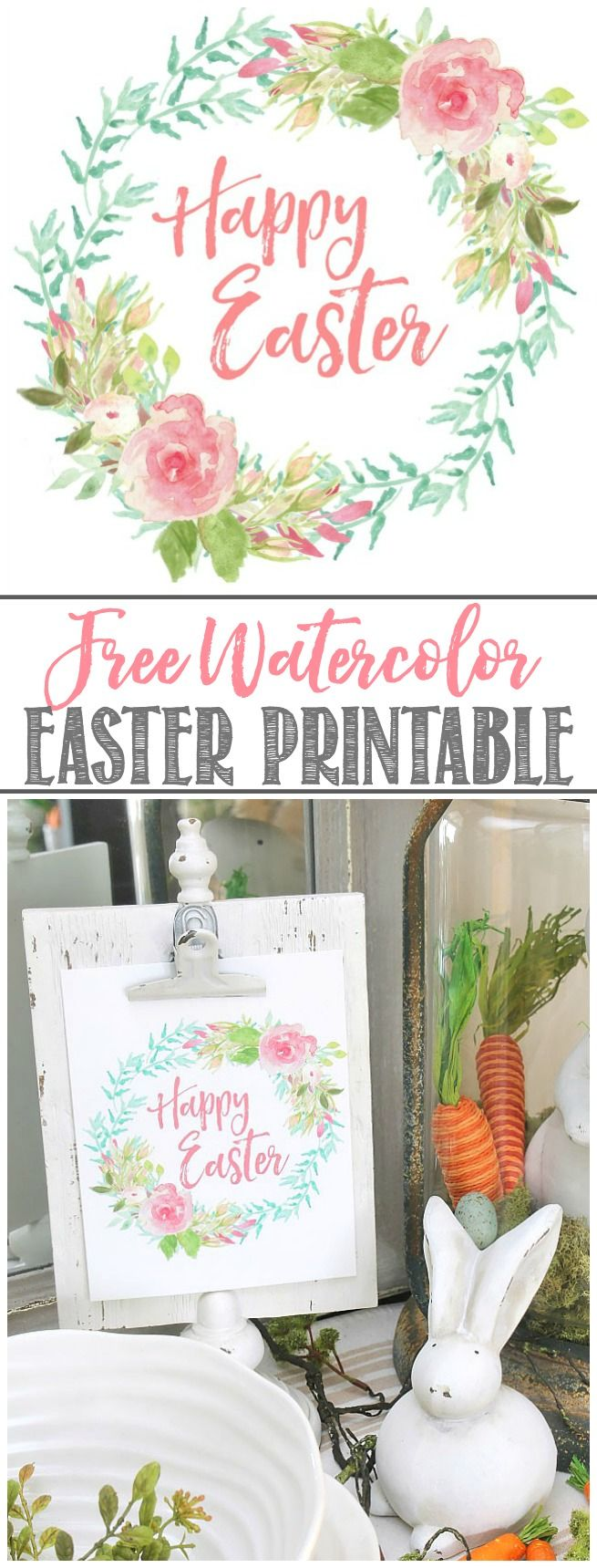 Free Easter printables and simple Easter decorating ideas.