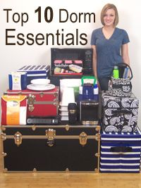 Dorm room checklist for college- this is a GREAT site...they have listed everything you need to know, buy and pack...@Joanna Miller you can even check with the different colleges to see what they suggest