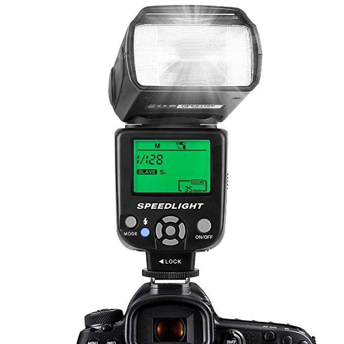 Multi LCD Display ESDDI Camera Flash Speedlite for Canon Nikon Olympus Pentax DSLR and Digital Cameras with Standard Hot Shoe