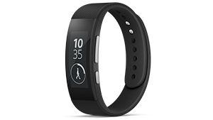 Das SmartBand Talk SWR30, das Aktivitäts-Tracker-Armband von Sony, ist ein modisches SmartBand mit gewölbtem Display und Anruffunktion.