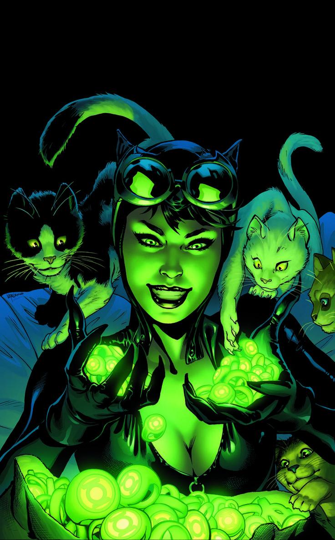 Catwoman_44Como guerra por el territorio de la mafia por el control de la ciudad de Gotham sigue aumentando, Eiko y Selina deben tomar algunas decisiones difíciles para que puedan soportar los juegos de poder de El Pingüino y Máscara Negro. ¿Y cómo encaja Killer Croc en la acción?