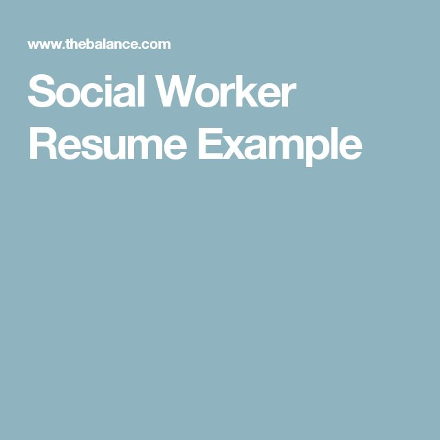 Hereu0027s a Sample Social Worker Resume to Give Ideas of What to - resumes for social workers