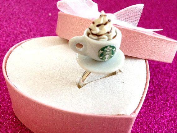 Adjustable Starbucks Ring on Etsy, $9.99