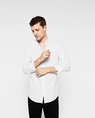 Image 3 of SHIRT WITH SNAPS ON THE COLLAR from Zara
