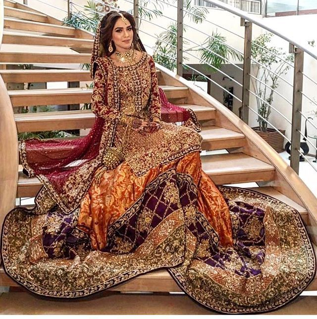Isn't it elegant Pakistani bridal