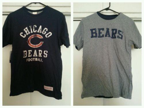 Chicago Bears Mitchell and Ness Reversible Shirt Blue Gray Men's Small NFL Football Ditka Jake Cutler Brandon Jennings Matt Forte ---SOLD!