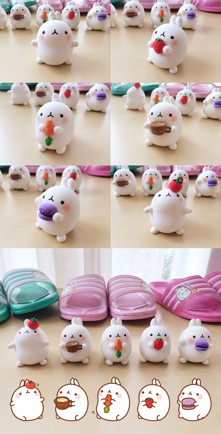 463 best images about molang on pinterest kawaii shop for Craft smart polymer clay