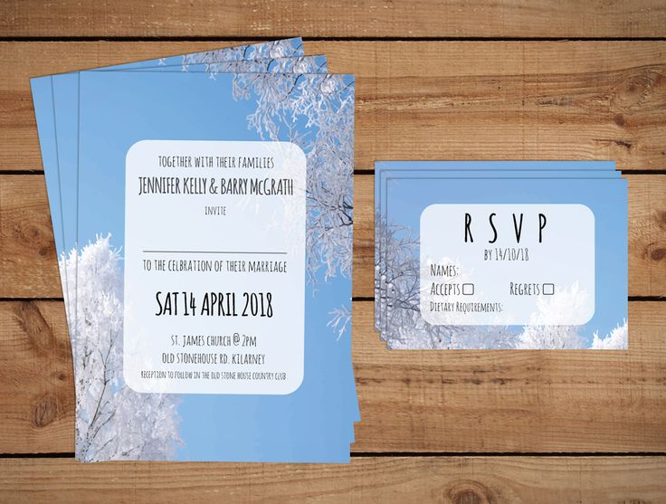 Winter Trees Wedding InvitationsWedding Invitations to start your exciting adventure together