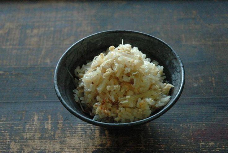 みょうがの炊き込みご飯のレシピ/作り方:白ごはん.com