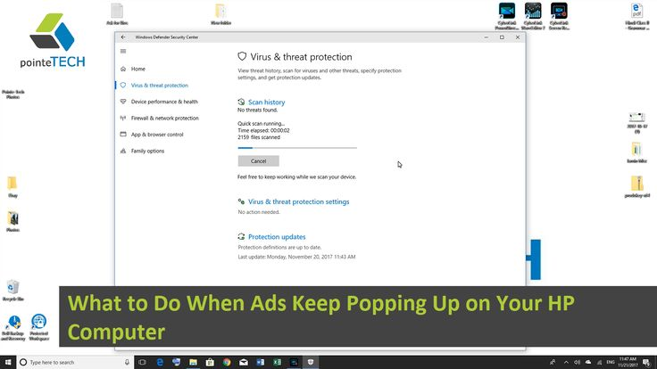 What to Do When Ads Keep Popping Up on Your HP Computer. We will explain why this problem occurs and discuss two possible solutions for how to remedy it. One solution being using software already installed on your computer and the other a more comprehensive option.
